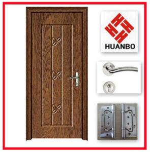 Modern Design PVC MDF Wooden Interior Flat Door Hb-189