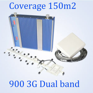 GSM 900 WCDMA 3G 2100MHz Cell Phone Signal Booster Indoor High Gain Dual Band Signal Repeater Amplifier
