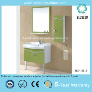 Two Doors Freestanding PVC Board Bathroom Cabinet, Vanity (BLS-16115) pictures & photos