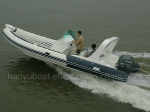 25feet Inflatable Rib730b Boat, Rescure Boat, Fishing Boat, Rigid Hull Boat, PVC or Hypalon pictures & photos