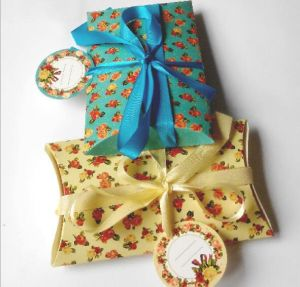 Small Colorful Pillow Shape Christmas Gift Box with Bowknot pictures & photos