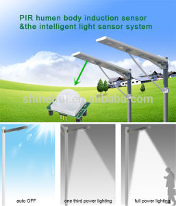 80W All in One LED Solar Street Light with 10 Years Warranty pictures & photos