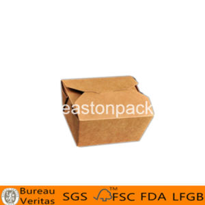 Disposable Kraft Square Bottom Small Paper Noodle Box pictures & photos