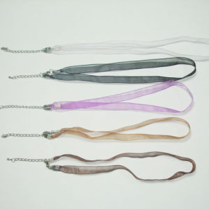 Custom Satin Ribbon Flat Plain Lanyard pictures & photos