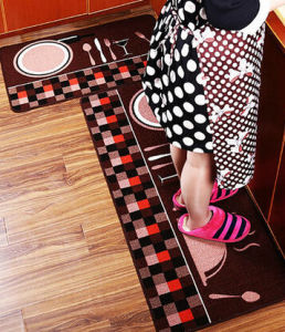 100% Eco Friendly Plate Printed Kitchen Rug pictures & photos