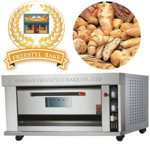 Full Stainless Steel Gas Deck Oven for Baking Bread in Food Equipment (ALB-02Q)