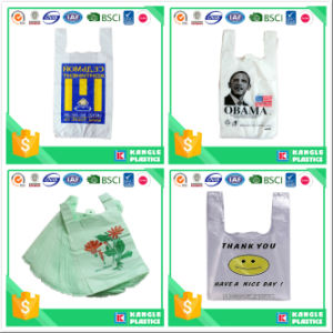 Custom Printed Polythene Carry Bags for Supermarket pictures & photos