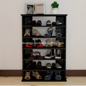 Wooden Furniture 4 Shelves Wood Storage Shoe Rack for Living Room pictures & photos