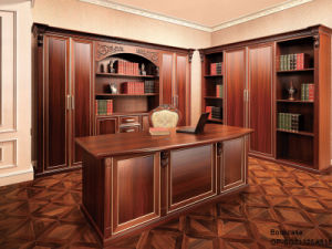 Oppein Luxury High Quality Brown Melamine Wooden Book Cabinet (SG21125A315) pictures & photos