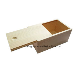 Single Wooden Wine Box Gift Set Storage Box with Slide Top pictures & photos