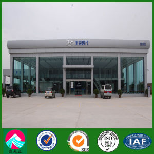 Steel Structure Building with Curtain Glass Wall for Car Showroom (XGZ-SSB090) pictures & photos