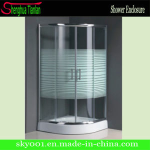 Hot New Design Low Tray PVC Round Corner Shower Enclosure pictures & photos