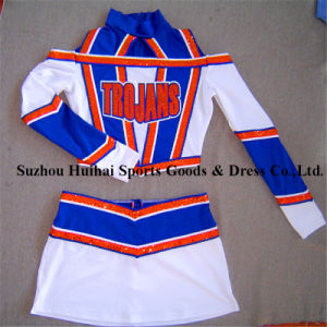 Cheerleading Uniforms with Spandex Fabric pictures & photos