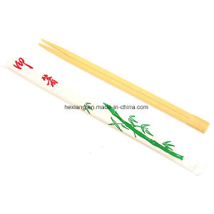 Full Paper Wrapped Bamboo Chopsticks Imprinted Chopstick Sleeves pictures & photos