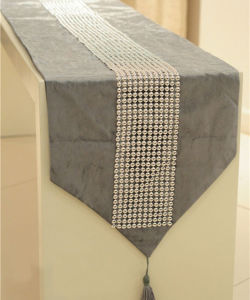 Hand-Sewing Diamond-Tape Table Runner Decorative Table Flag (YTR-01) pictures & photos