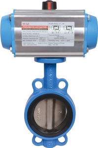 Pneumatic Butterfly Valve with Actuator pictures & photos