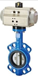 Pneumatic Actuator Wafer Type Butterfly Valve (PTFE Sealling) pictures & photos