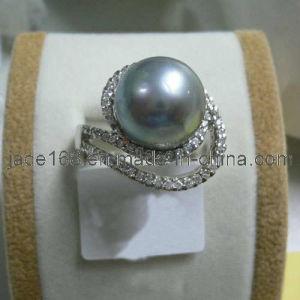 14k Gold Gray Pearl Ring (SPR-002)