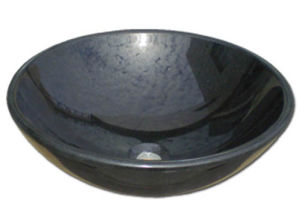 Building Material Black Stone Marble Sink for Bathroom and Kitchen pictures & photos
