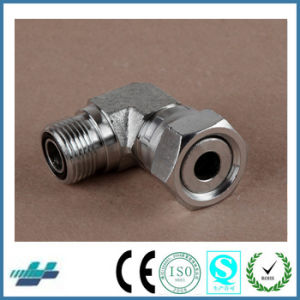 Metric Thread Bite Type Tube Fittings Replace Parker Fittings and Eaton Fittings (90 degree ELBOW REDUCER TUBE ADAPTOR WITH SWIVEL NUT) pictures & photos