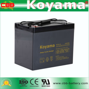 DC75-12 12V 75ah Sealed Deep Cycle AGM Battery pictures & photos