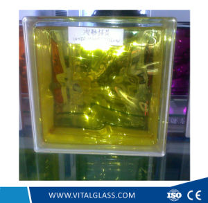 High Quality Inner Yellow Glass Block for Decoration (G-B) pictures & photos