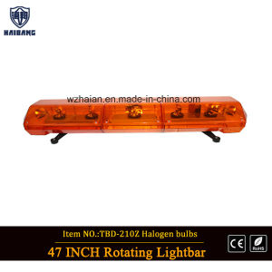 Amber Dome Halogen Lightbar for Law Enforcement Vehicles pictures & photos