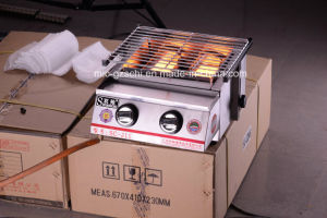 BBQ Grill Gas&Natural Barbecue 2 Burners Roaster pictures & photos