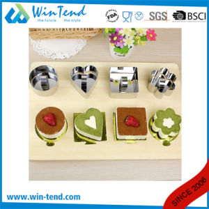 Wholesale Manufactory Stainless Steel Chef Dessert Ring Mould with Pusher pictures & photos