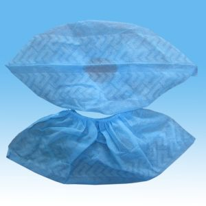 Disposable Nonwoven Shoe Cover with Antislip by Hand/Machine pictures & photos