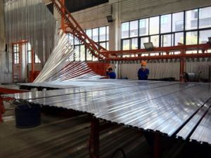 Powder Spray Aluminum Extrusion Profile for Curtain Wall OEM Welcomed pictures & photos
