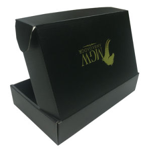 Custom Black Corrugated Shipping Boxes Garment Shipping Boxes Wholesale pictures & photos