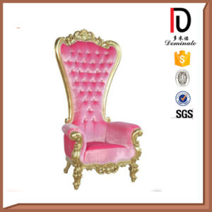 Exquisitely Carved Solid Wood Medium Back Throne Chair for Wedding (BR-LC038) pictures & photos