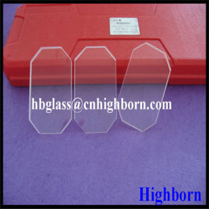 Hot Sell Coner Cut Quartz Glass Plate pictures & photos