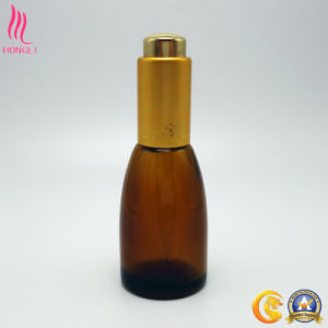 Glass Container with Push Button Dropper for Cosmetics pictures & photos