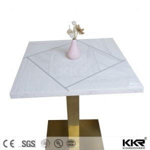 Restaurant Furniture New Design Solid Surface Dining Tables (171113) pictures & photos