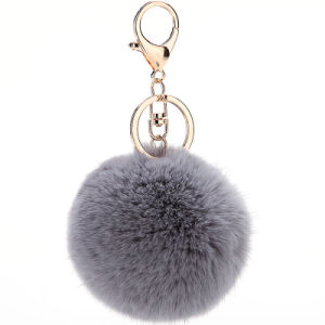 Hot Sale Cheaper Real Rex Rabbit Fur POM for Lady pictures & photos