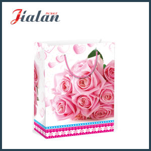 Valentine′s Day Flowers Design Gift Packing Shopping Paper Bag pictures & photos