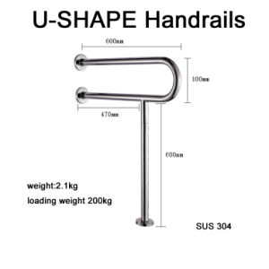 Disability U Shape Safety Grab Bar Stainless Steel for Toilet and Bathroom pictures & photos