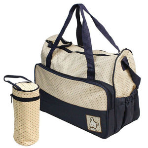 Polyester Nappy Mummy Mother Tote Baby Diaper Set Bag pictures & photos