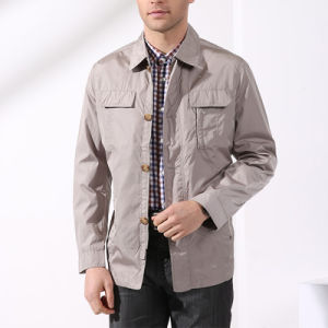 China Manufacture Khaki Lining Mens Leisure Wholesale Jacket pictures & photos