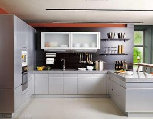 Melamine Kitchen Cabinet with Many Colors (Fast delivery) pictures & photos