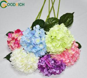 Single Stem Hydrangea Silk Flower pictures & photos