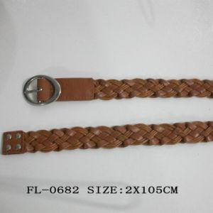 PU Braided Belt Fl-0682 pictures & photos
