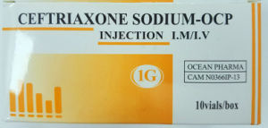 Western Medicine Ceftriaxone Sodium for Injection U. S. P. 1g pictures & photos