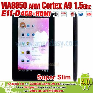 Via8850, Android 4.0, 5inch Capacitive Screen, Support WiFi, 3G, E11-D (VIA8850)