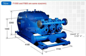 API Spec 7k Specification Standard Three Cylinder Single Acting F500 Mud Pump pictures & photos