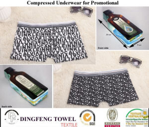 2015 Promotional Gift Fashion Compressed Traveling Printed Boxer Underwear Df-2025 pictures & photos