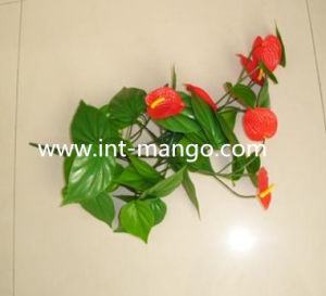 Green Eco-Friend Artificial Anthurium for Garden Fence (MW16026) pictures & photos