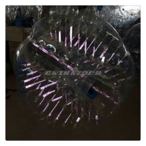 New Design Amazing Purple Color Glow Zorb Soccer Body Zorbing Ball pictures & photos
